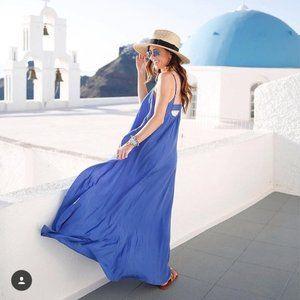 ONE by Pink Stitch Resort Maxi Dress Cobalt Blue